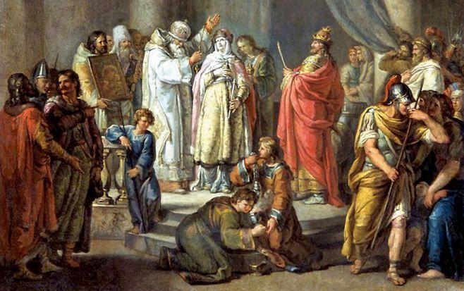 знакомство князя игоря и ольги